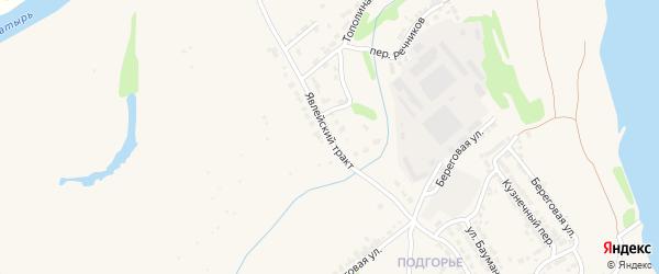 Явлейский тракт на карте Алатыря с номерами домов
