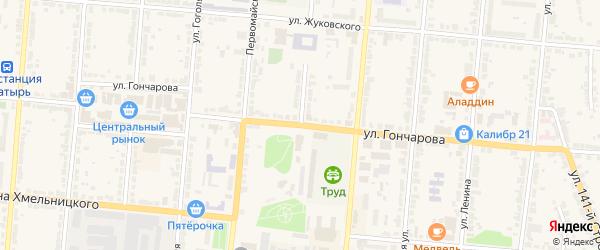 Улица 3 Интернационала на карте Алатыря с номерами домов