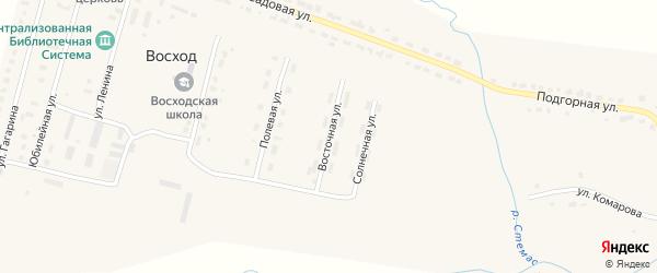 Восточная улица на карте поселка Восхода с номерами домов
