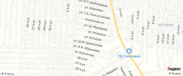 Батырая улица на карте Юбилейного микрорайона с номерами домов