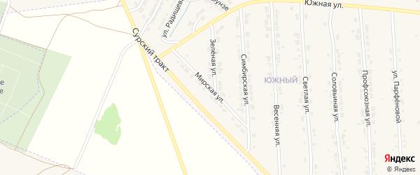 Мирская улица на карте Алатыря с номерами домов