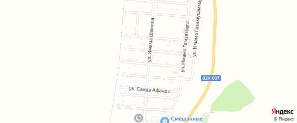 Центральная улица на карте села Казмаула с номерами домов