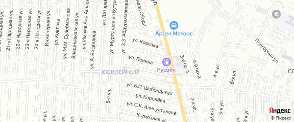 Улица Ленина на карте Юбилейного микрорайона с номерами домов