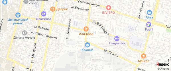 Фабричный переулок на карте Хасавюрта с номерами домов