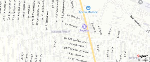 Улица Чайковского на карте Юбилейного микрорайона с номерами домов