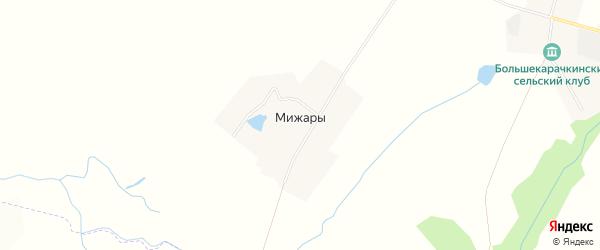 Карта деревни Мижар в Чувашии с улицами и номерами домов
