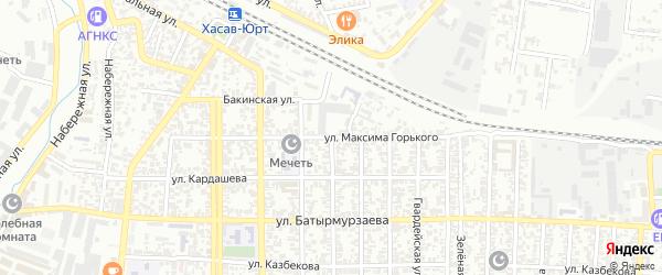 Улица М.Горького на карте Хасавюрта с номерами домов