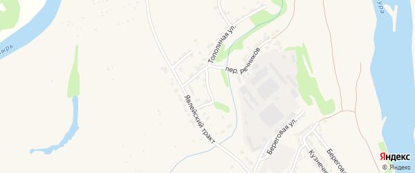 Радужный переулок на карте Алатыря с номерами домов