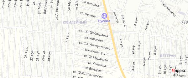 Улица Королева на карте Юбилейного микрорайона с номерами домов