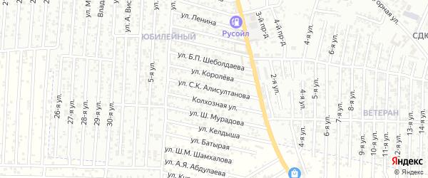 Улица Алисултанова С.К. на карте Юбилейного микрорайона с номерами домов