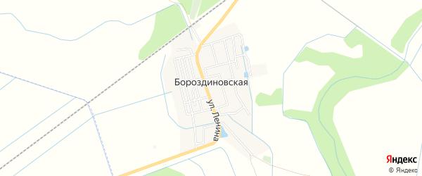 Карта Бороздиновской станицы в Чечне с улицами и номерами домов