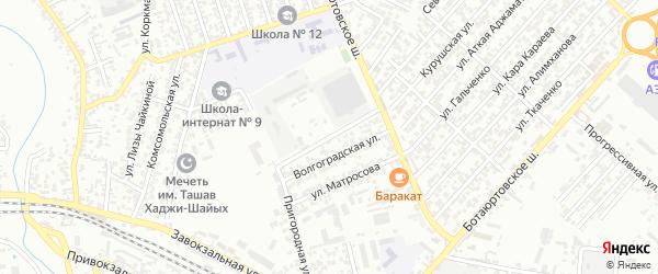 Бамматюртовский переулок на карте Хасавюрта с номерами домов