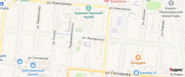 Улица Жуковского на карте Алатыря с номерами домов
