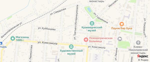 Лесной переулок на карте Алатыря с номерами домов