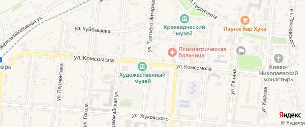 Улица Комсомола на карте Алатыря с номерами домов