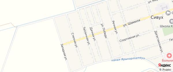 Тепличная улица на карте села Сивуха с номерами домов
