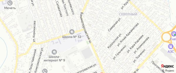 Бамматюртовское шоссе на карте Хасавюрта с номерами домов