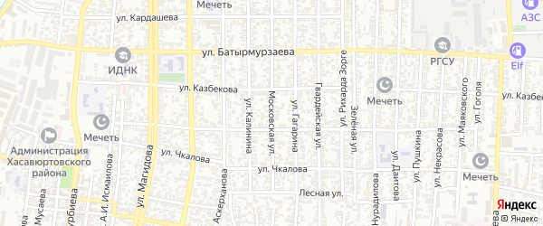 Московская улица на карте Хасавюрта с номерами домов