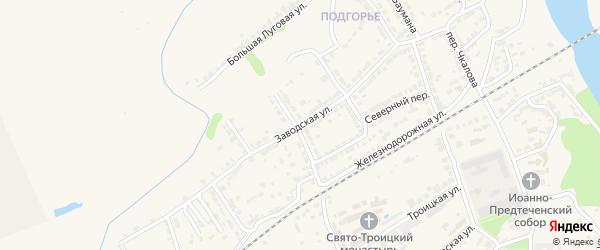 Заводская улица на карте Алатыря с номерами домов