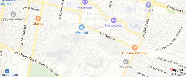 Кандаураульская улица 7-й проезд на карте Хасавюрта с номерами домов