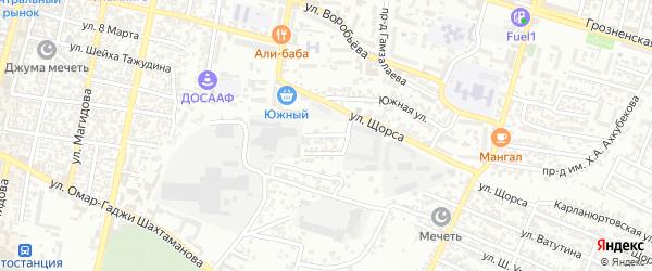 Кандауровский 7-й проезд на карте Хасавюрта с номерами домов