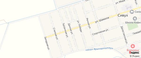 Дачная улица на карте села Сивуха с номерами домов