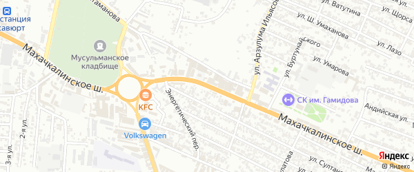 Махачкалинское шоссе на карте Хасавюрта с номерами домов