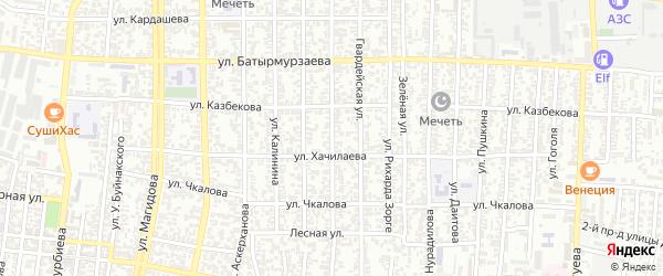 Улица Гагарина на карте Хасавюрта с номерами домов