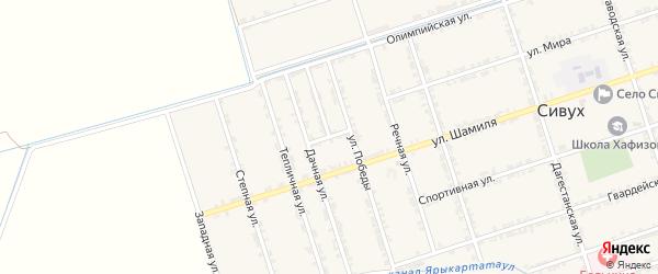 Переулок 9 Мая на карте села Сивуха с номерами домов