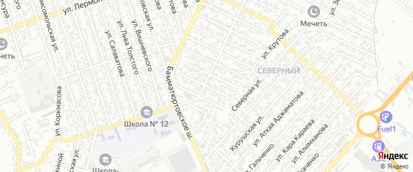 40 лет Октября улица 1-й проезд на карте Хасавюрта с номерами домов