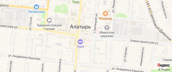 Комиссариатская улица на карте Алатыря с номерами домов