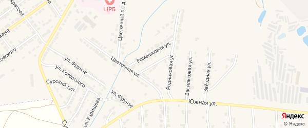 Линейная улица на карте Алатыря с номерами домов