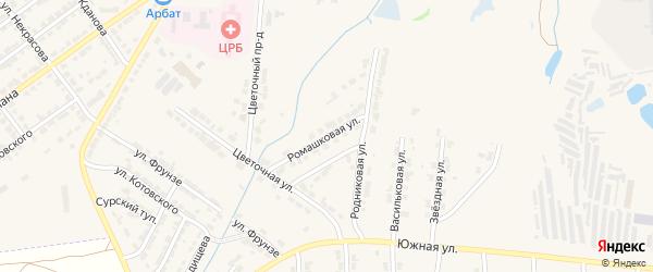 Ромашковая улица на карте Алатыря с номерами домов