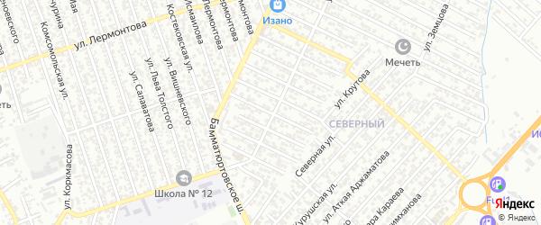 40 лет Октября улица 3-й проезд на карте Хасавюрта с номерами домов