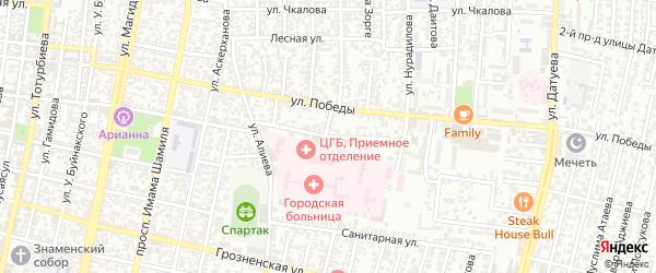 Дачная улица на карте Хасавюрта с номерами домов