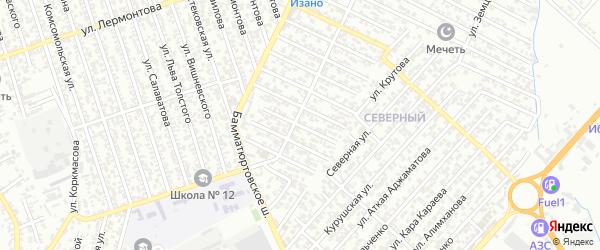 40 лет Октября улица 2-й проезд на карте Хасавюрта с номерами домов