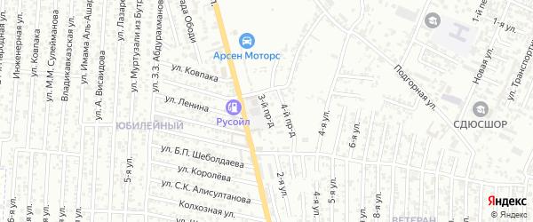 Аркабашская улица 3-й проезд на карте Хасавюрта с номерами домов