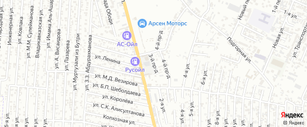 Грозненский 3-й проезд на карте Хасавюрта с номерами домов