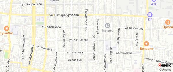 Гвардейская улица на карте Хасавюрта с номерами домов