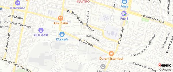 Южная улица на карте Хасавюрта с номерами домов