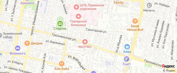 Санитарная улица 4-й проезд на карте Хасавюрта с номерами домов
