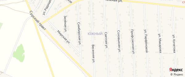 Весенняя улица на карте Алатыря с номерами домов
