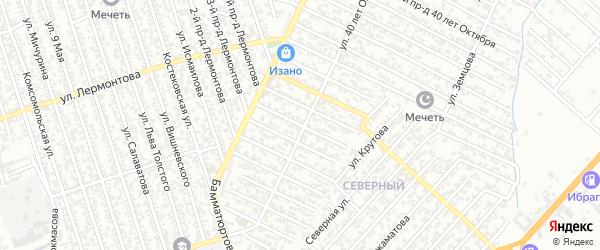 40 лет Октября улица 6-й проезд на карте Хасавюрта с номерами домов