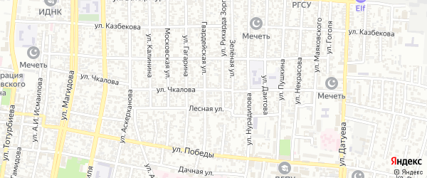 Улица Чкалова на карте Хасавюрта с номерами домов