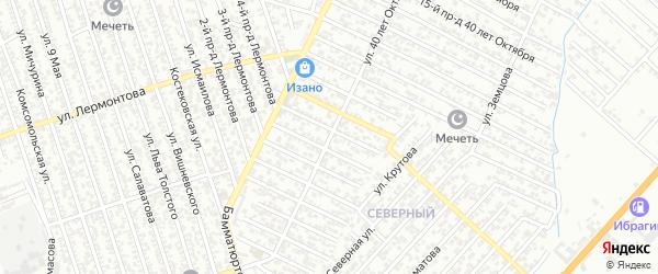 Улица 40 лет Октября на карте Хасавюрта с номерами домов