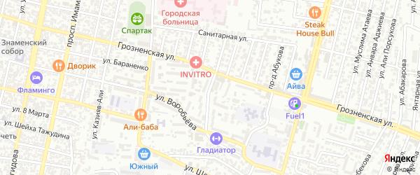 Санитарная улица 5-й проезд на карте Хасавюрта с номерами домов
