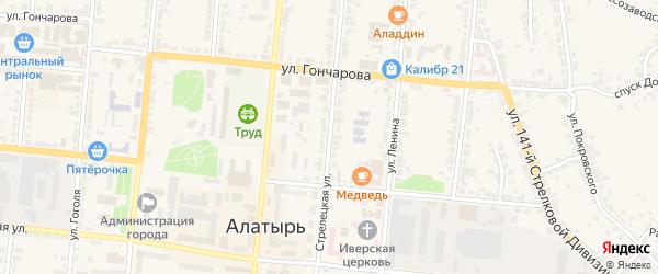 Стрелецкая улица на карте Алатыря с номерами домов