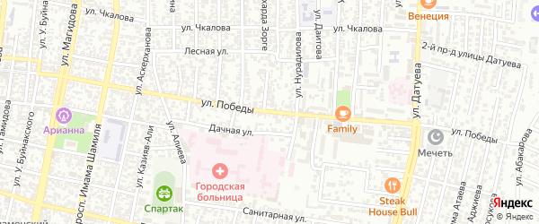 Улица Победы на карте Садового поселка с номерами домов