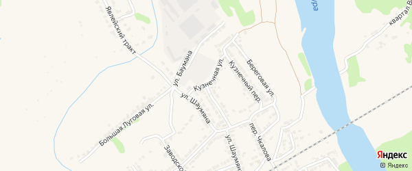 Улица Баумана на карте Алатыря с номерами домов