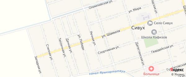 Речная улица на карте села Сивуха с номерами домов